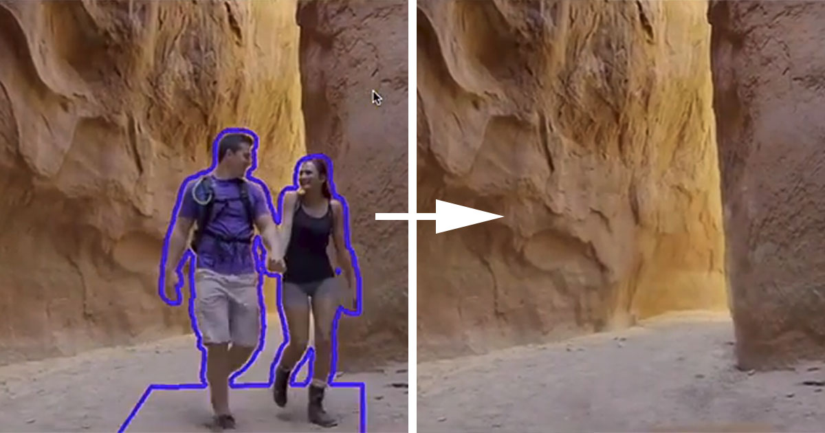 Adobe Cloak is Content-Aware Fill for Video