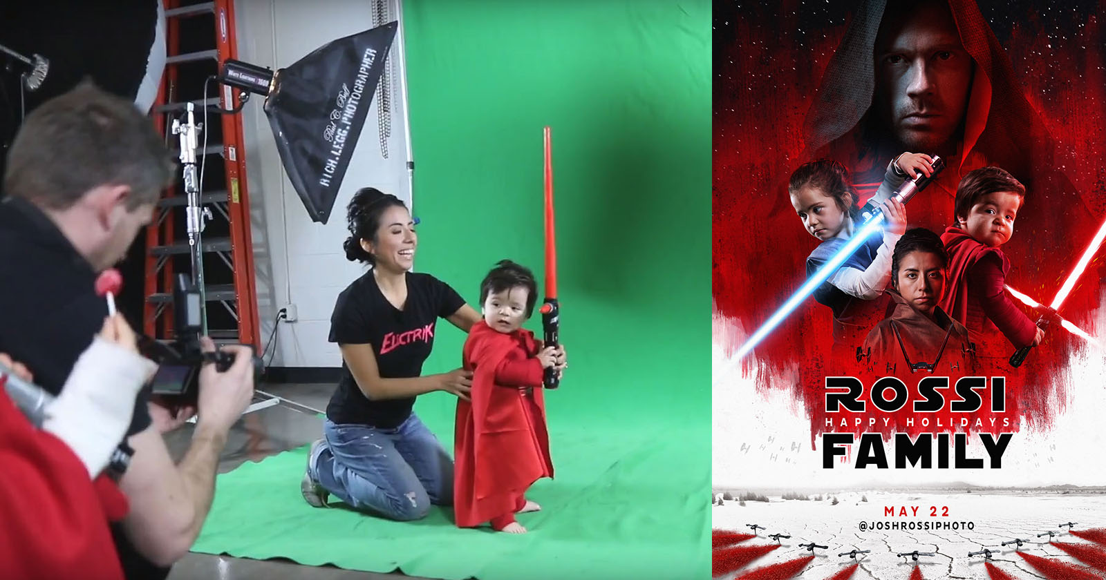 Photographer Recreates The Last Jedi Posters For Family