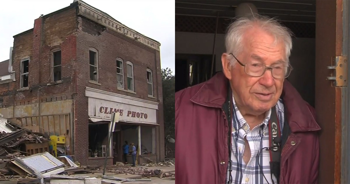 92-Year-Old Photographer Loses 65-Year-Old Photo Business to Tornado