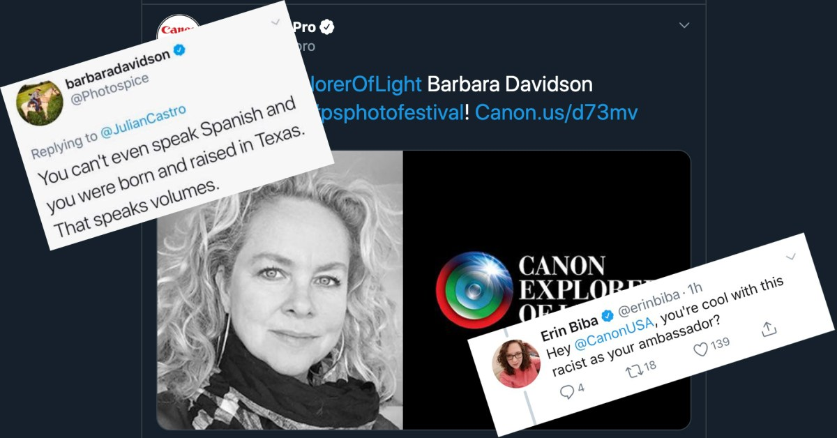 Canon Drops Ambassador Barbara Davidson for 'Racist' Tweet