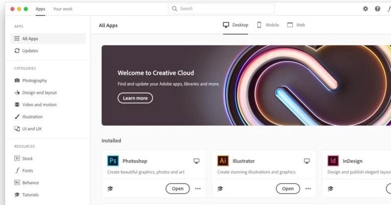 """""""•Creative Cloud Desktop Redesigned""""的图片搜索结果"""