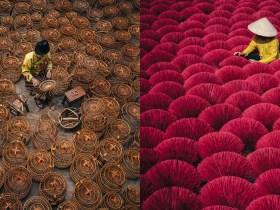 Il fotografo cattura i bellissimi schemi della vita quotidiana in Asia