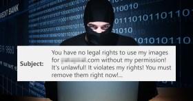 Fai attenzione a queste e-mail che sembrano richieste di rimozione per copyright di foto
