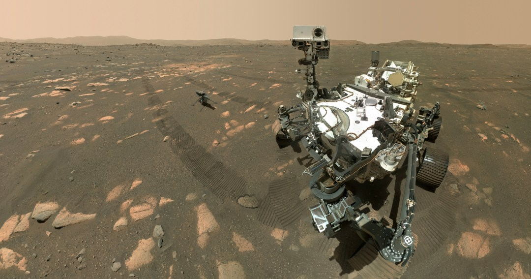 NASAs Mars Perseverance Rover Takes Selfie with the Ingenuity Drone