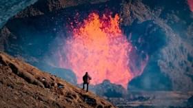 Questo filmato del vulcano islandese include i suoni dell'eruzione