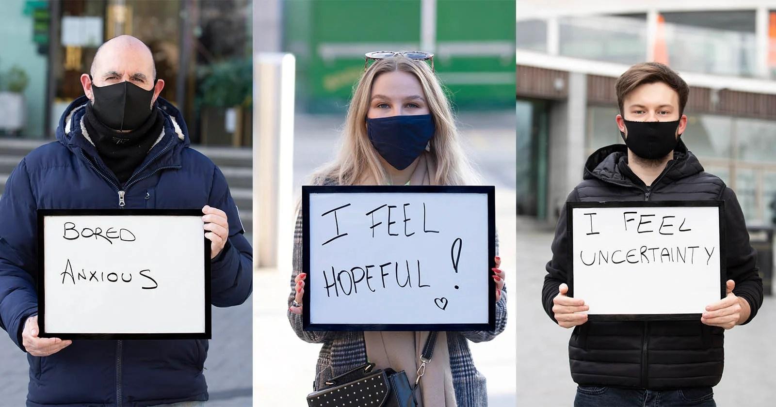 Serie di foto mostra emozioni pandemiche, avvia colloqui sulla salute mentale