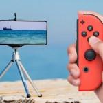 Il Joy-Con per Nintendo Switch funge anche da rilascio dell'otturatore per smartphone