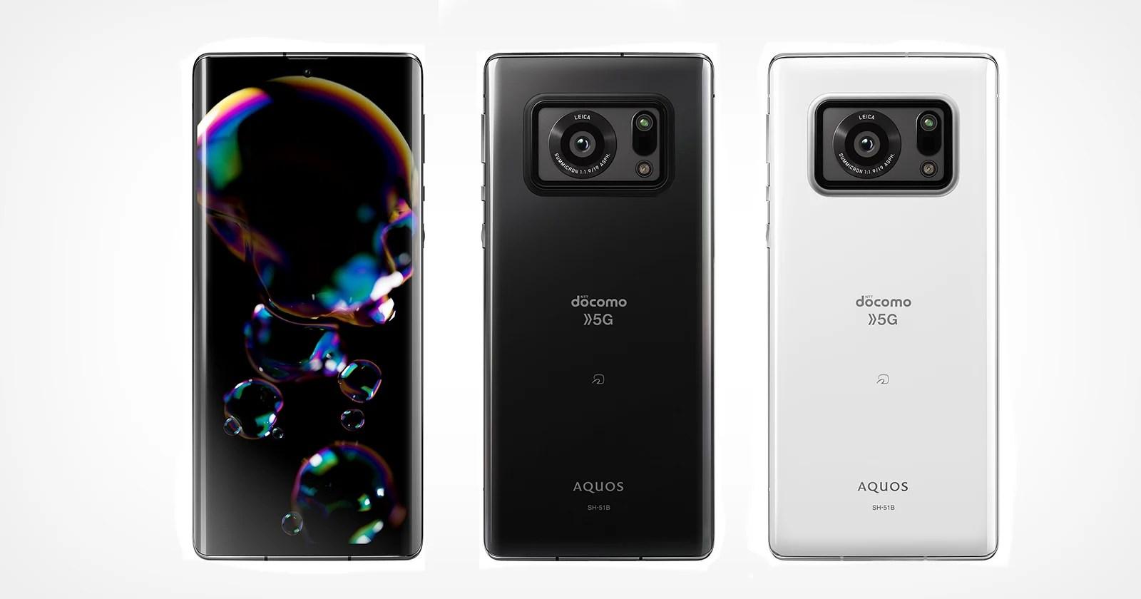 Il telefono Aquos R6 di Sharp con marchio Leica racchiude un enorme sensore da 1 pollice