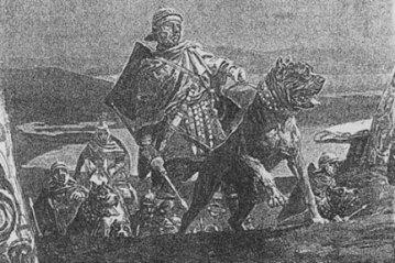 Mastiff ingles usado na guerra