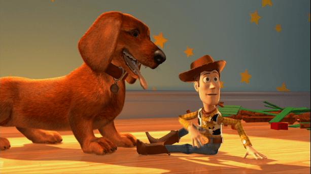daschund no filme toy story