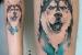 tatuagem criativa husky