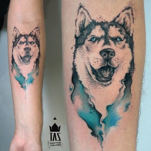 tatuagem husky siberiano