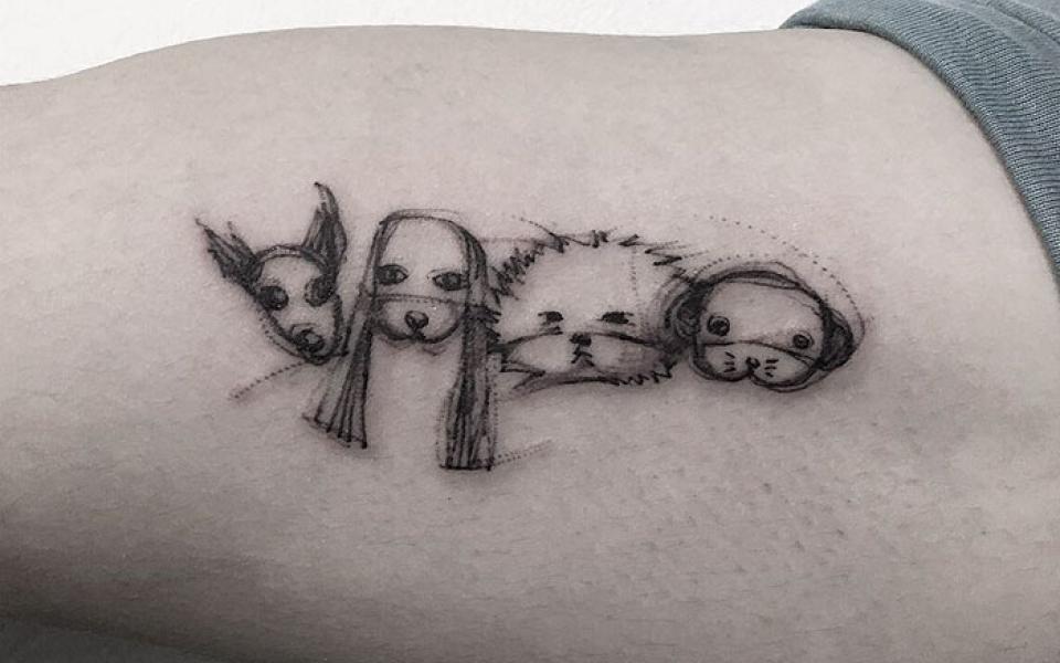 tatuagem de cachorro ideias