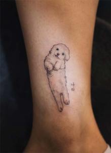tatuagem de cachorro delicada maltes