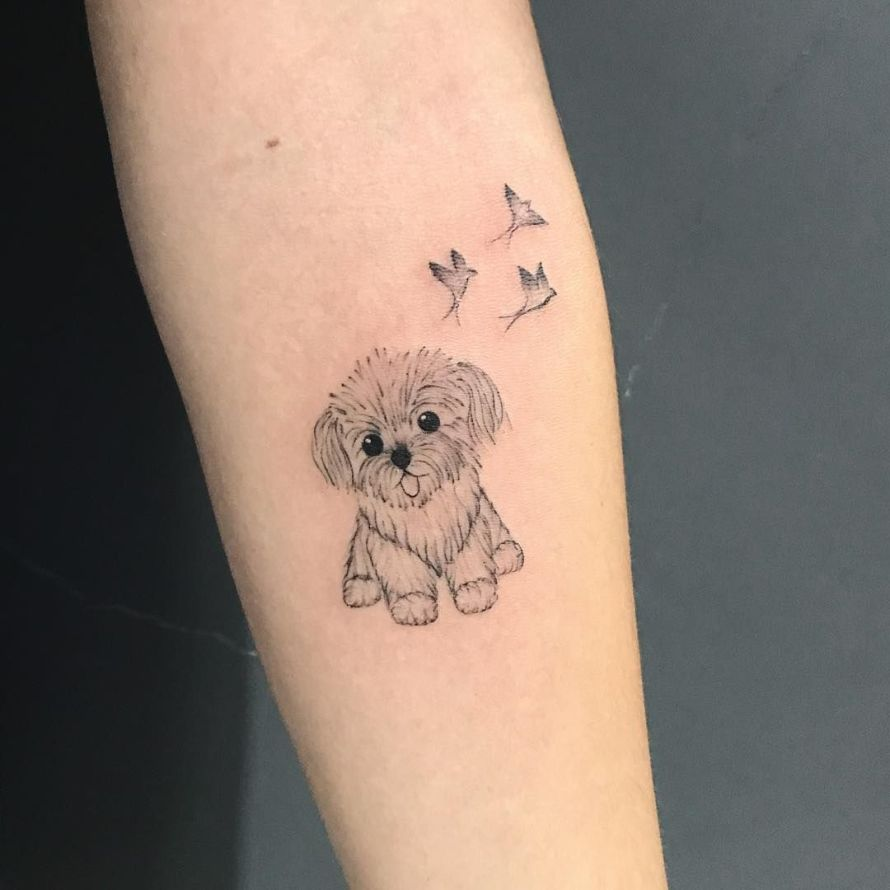 homenagem tatuagem de cachorro