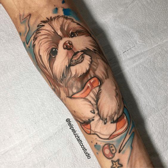 Homenagem para Cachorro Shih Tzu