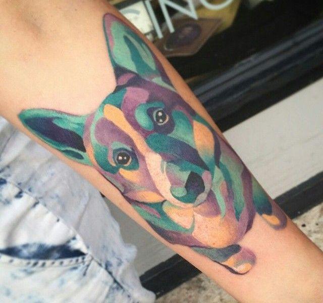 tatuagem de corgi