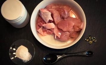 Making homemade dog food