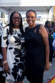 Former Mayor of Kingston Councillor Angela Brown Burke (left) and Trisha Williams Singh, Chair of the Early Childhood Commission.