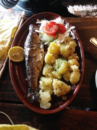 อาหารเช้าที่ร้าน Krčma U dwau Maryí