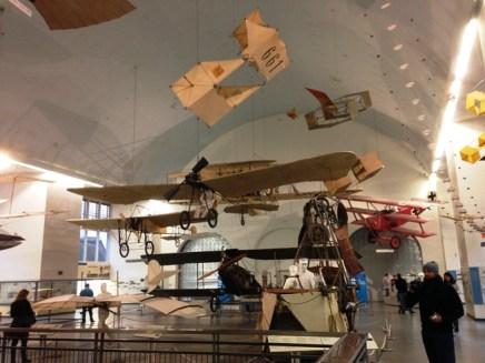 เครื่องบินโบราณมากมายในพิพิธภัณฑ์