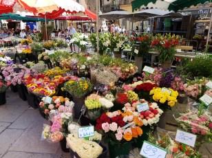 พอสายๆเริ่มมีตลาดเปิดมากขึ้น ตลาดขายดอกไม้ก็มา