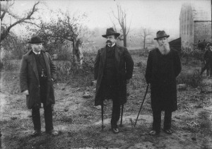 Sickles visiting Gettysburg
