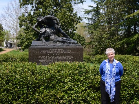 My mother-in-law, Karen at the Kirkland Monument.