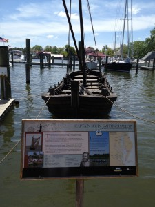 A recreation of John Smith's Shallop used to explore the Chesapeake in 1608.