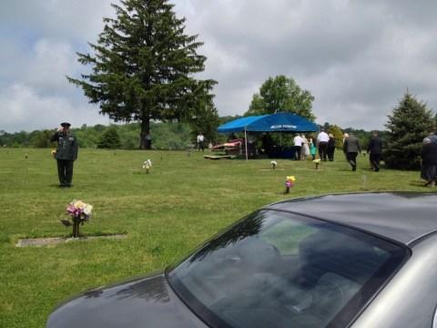 Grandpa's graveside service.