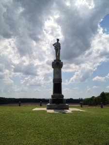Monument to 14th NJ near Monocacy Junction.