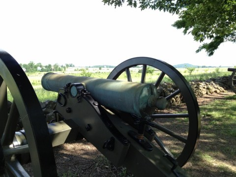 Rear View of a Howitzer.