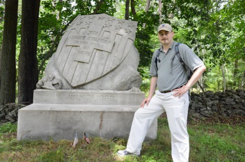 Visiting the 7th Maine Infantry