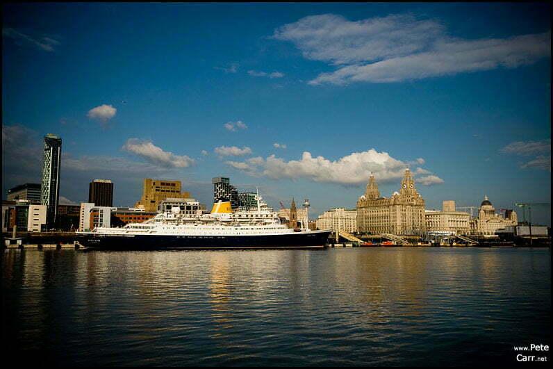 Saga Rose and the Liverpool skyline