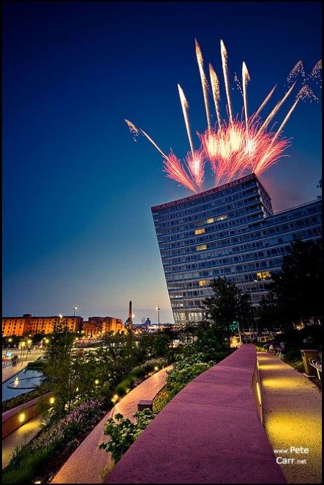 Fireworks over One Park West