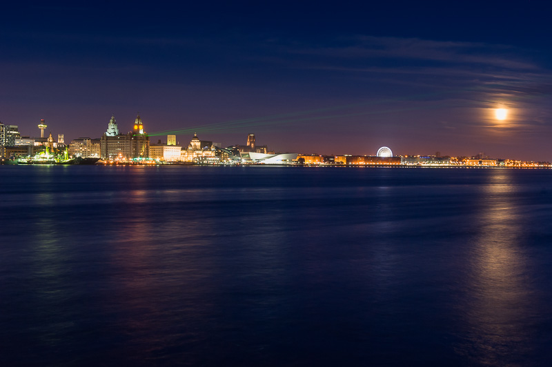 Laser projection for Battle of the Atlantic celebrations in Liverpool