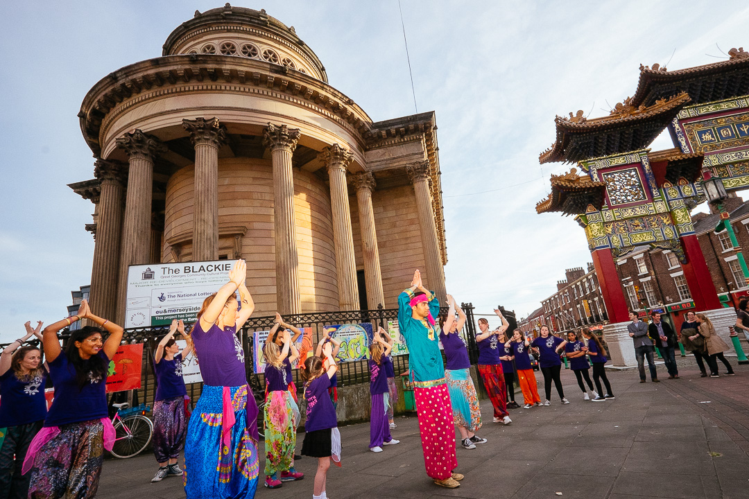 Light Night Liverpool 2014 - Dancing outside the Blackie
