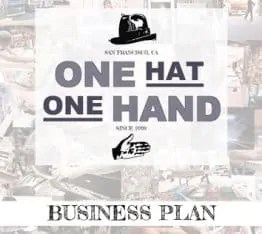 One Hat One Hand Business Plan Cover