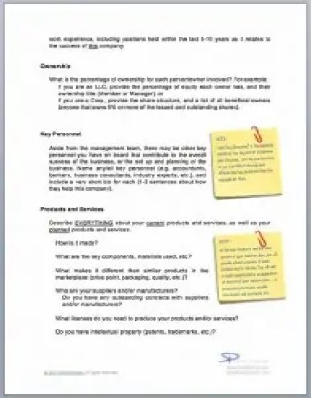 Business Plan Questions document