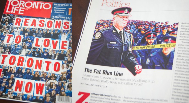 Toronto Police Chief Bill Blair Photo Published in Toronto Life Magazine