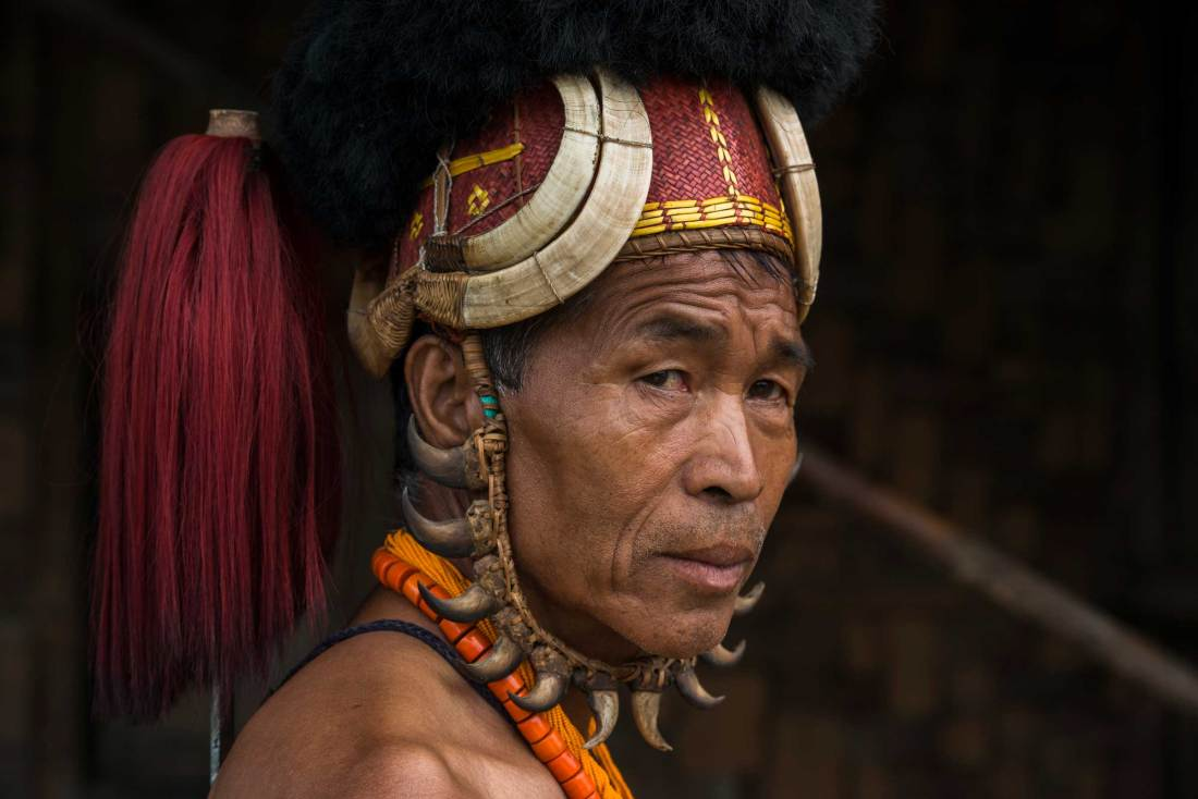 An indigenous Chang Naga man in his festival dress.