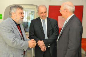 Norbert Seel und ich im Gespräch mit Michael Lammersdorf, Geschäftsführer der AKAD-Unternehmensgruppe (von links nach rechts)