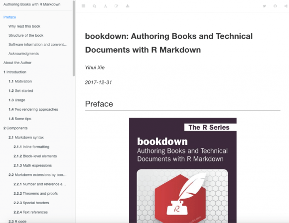 screenshot der bookdown Webseite