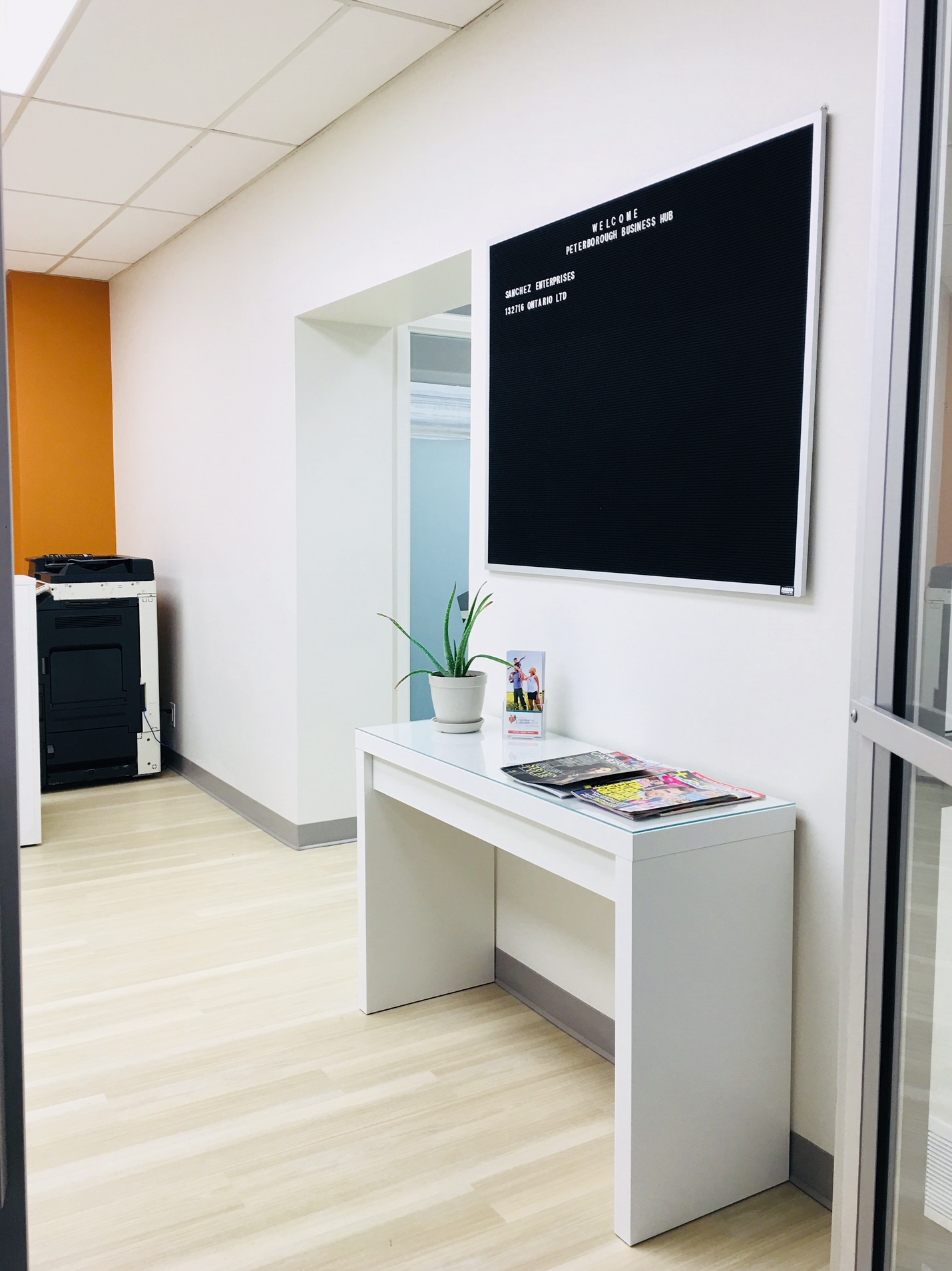 Directory in reception