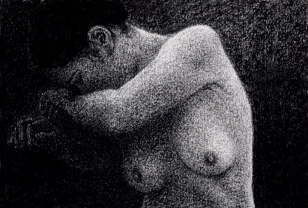 Tone Drawing 7: Charcoal on textured paper