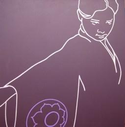 The Purple Lotus: Acrylic polymer on canvas - 915mm x 915mm