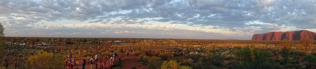 morning uluru panorama