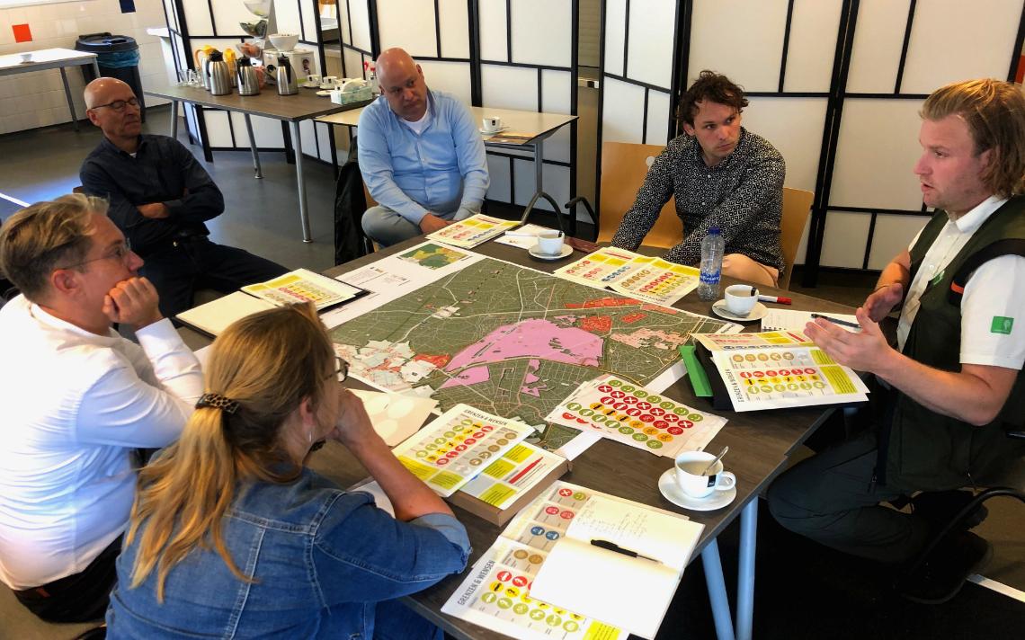vergadering over de inrichting van de Noord West Veluwe.