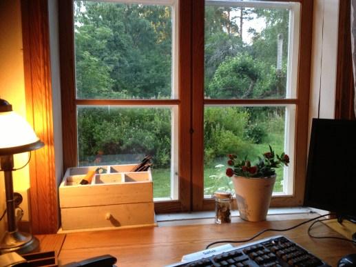 Utsikt från min nya skrivarstugarstuga