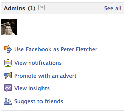 View Notifications link on a Facebook Page